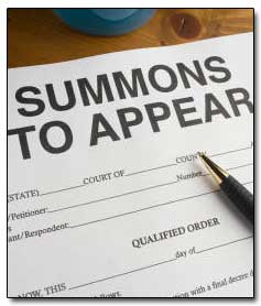 Subpoena - Summons To Appear