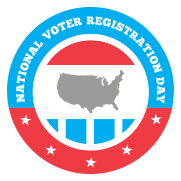 Voter Registration - National Voter Registration Day logo