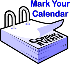 Mark Your Calendar - Coming Events - Blue