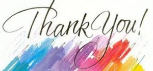 Thank You - multi colors