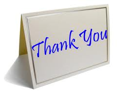 Thank You - blue